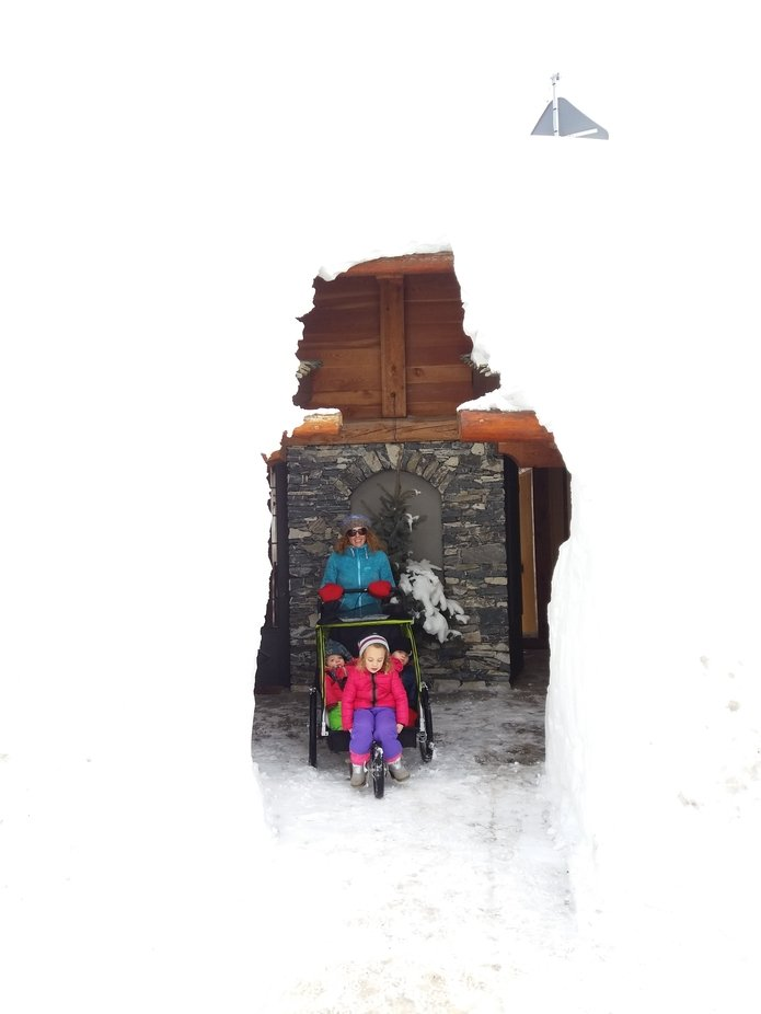In winter 2018 a lot of snow fallen where we live.  We had to modify the stroller to seat our old...