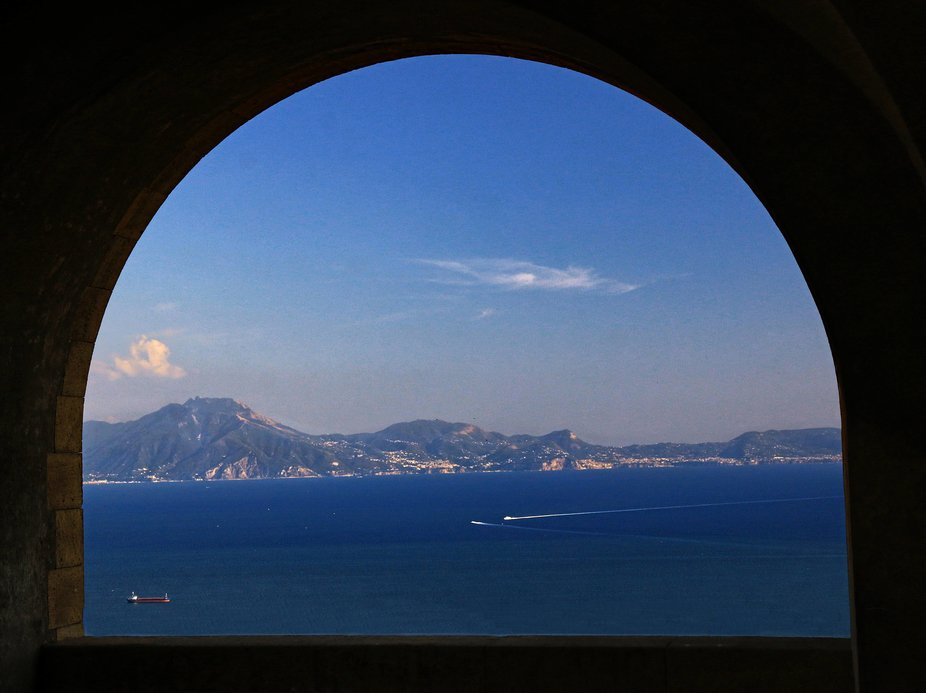 View across the Bay of Naples from Castel Sant Elmo