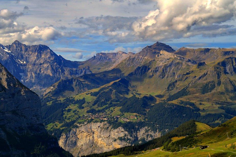 Murren from the Eiger Gletscher