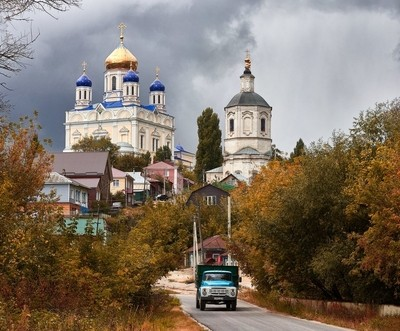 autumn in the ancient town of Yelets