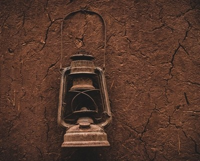 Lantern hanging in the old kasba at Ait Ben Haddou in Morocco.