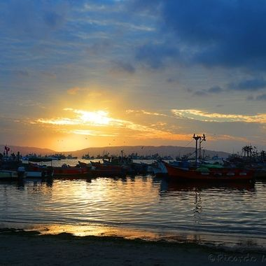 Sunset al Paracas, Perú