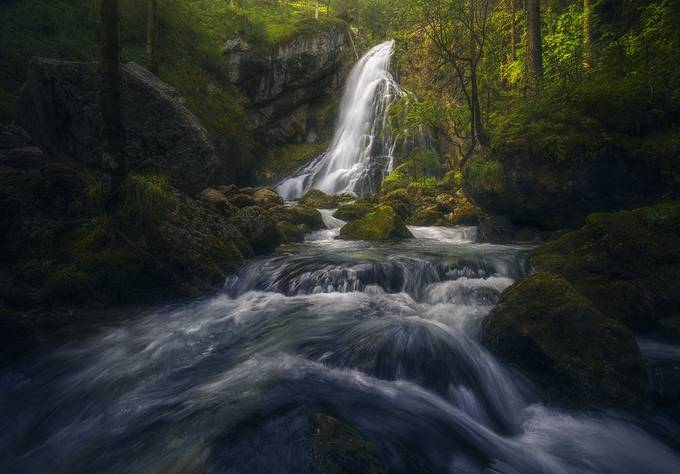 The forest waterfall by J.Manuel - Rivers Galore Photo Contest