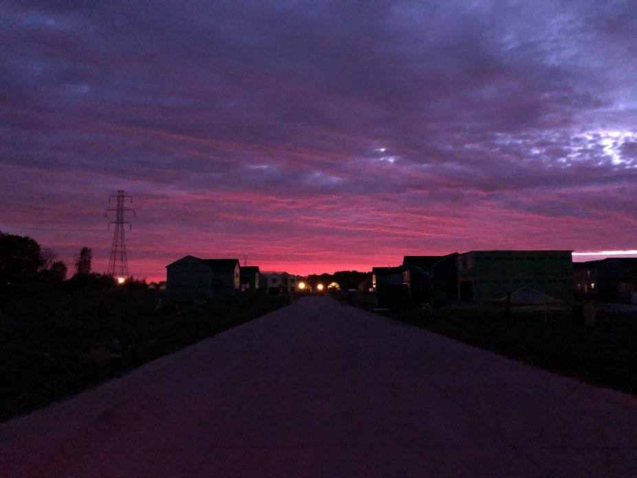 I need to carry my camera at all times with sunrises like this!
