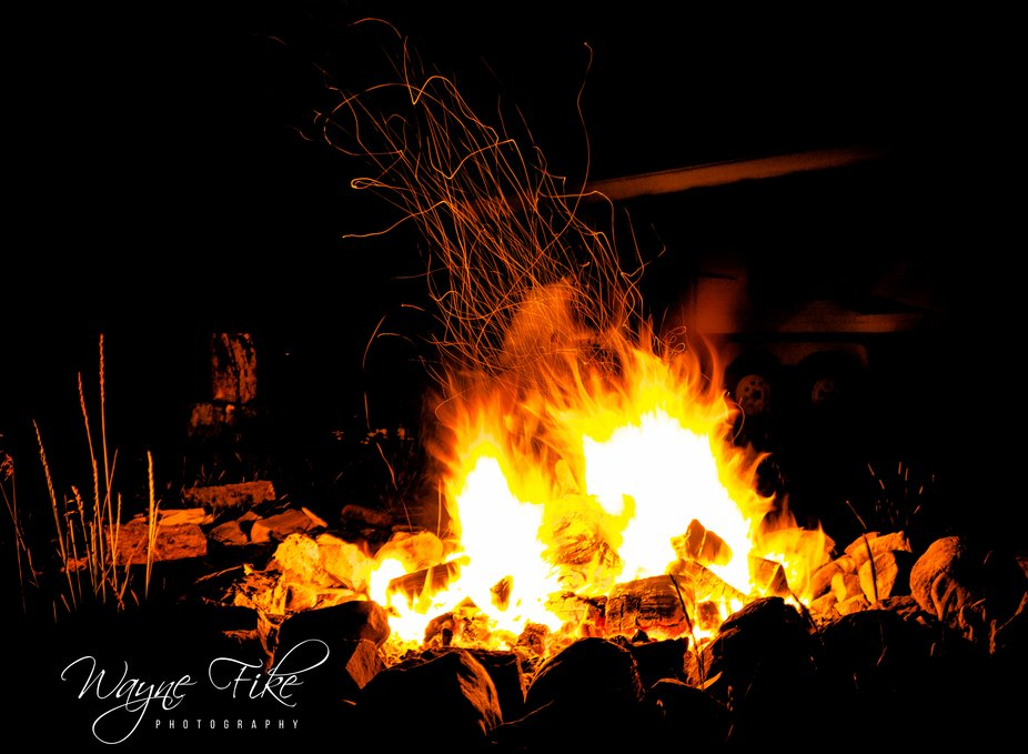 Campfire tricks during a 2 week vacation up to Montana. Spent 4 days camping out at Wise River an...