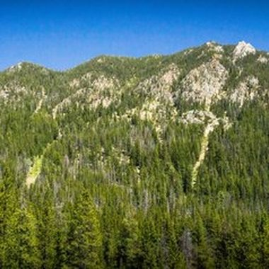 From the small ghost town of Coolidge Montana you can see both Mount Alverson and Tweedy Mountain. This is a wide angle lens panorama of 7 upright frames stitched together.  Coolidge is about 30 or so minutes south of Wise River and take the dirt road all the way back to the parking lot. It's about a 3/4 of a mile hike to get back to the ghost town, but always well worth it.  Many of my photos are for sale, please click over to my photography store and take a peek. I have something for just about anyone who loves nature.