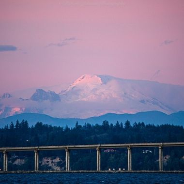 There was such a lovely  alpine glow to Mt. Baker last evening. What a delightful way to end the day.