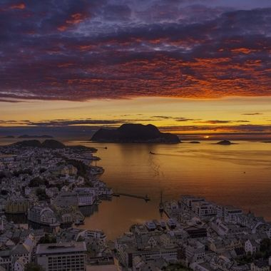 Alesund Norway sunset