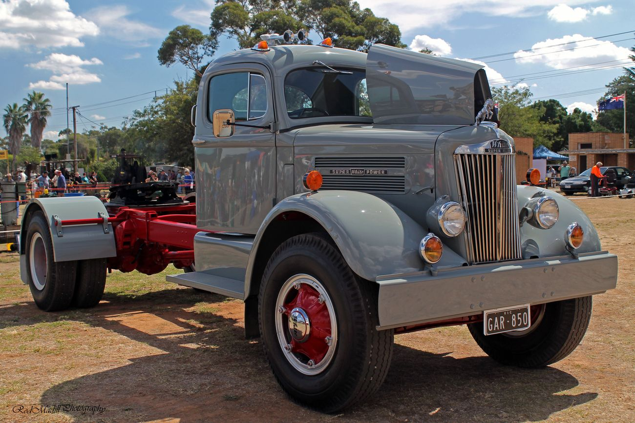 A beautiful White Super Power,Look at the shine ,there is a lot of love been put in to this old beast of burden.