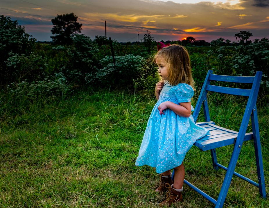 Photo op with my granddaughter at sunset