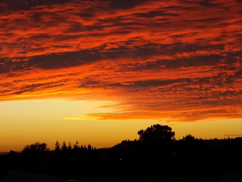 Sun set colors