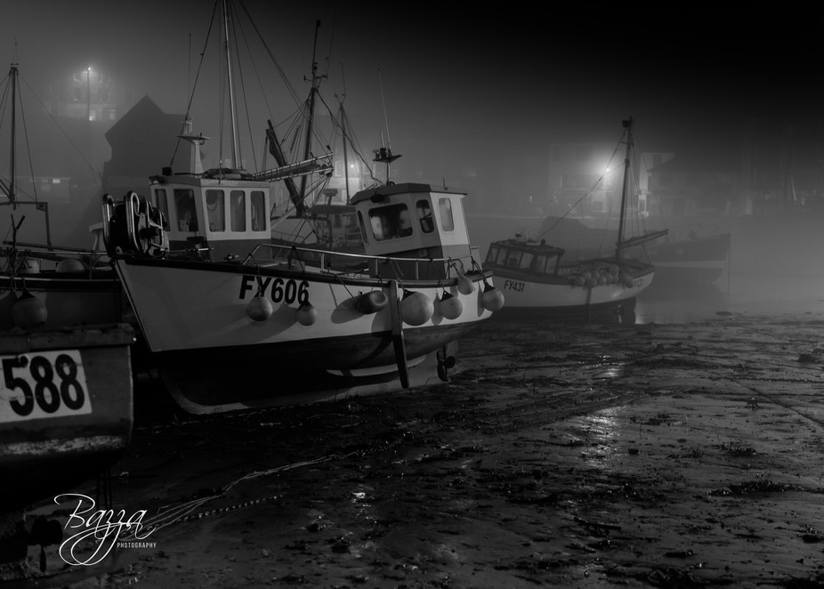 bw fishing boats dried up