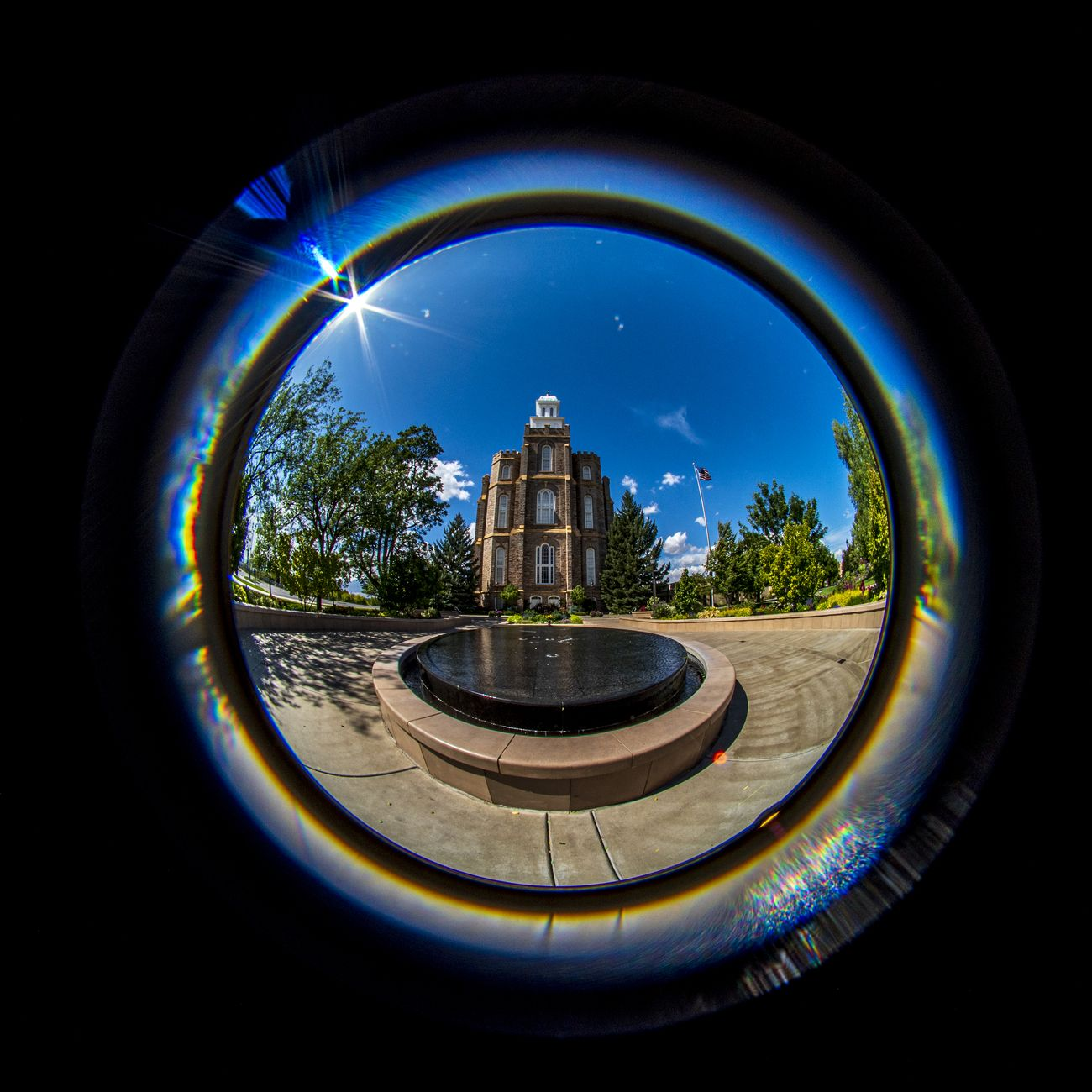 Logan Utah Temple Lensbaby 5.8mm fisheye