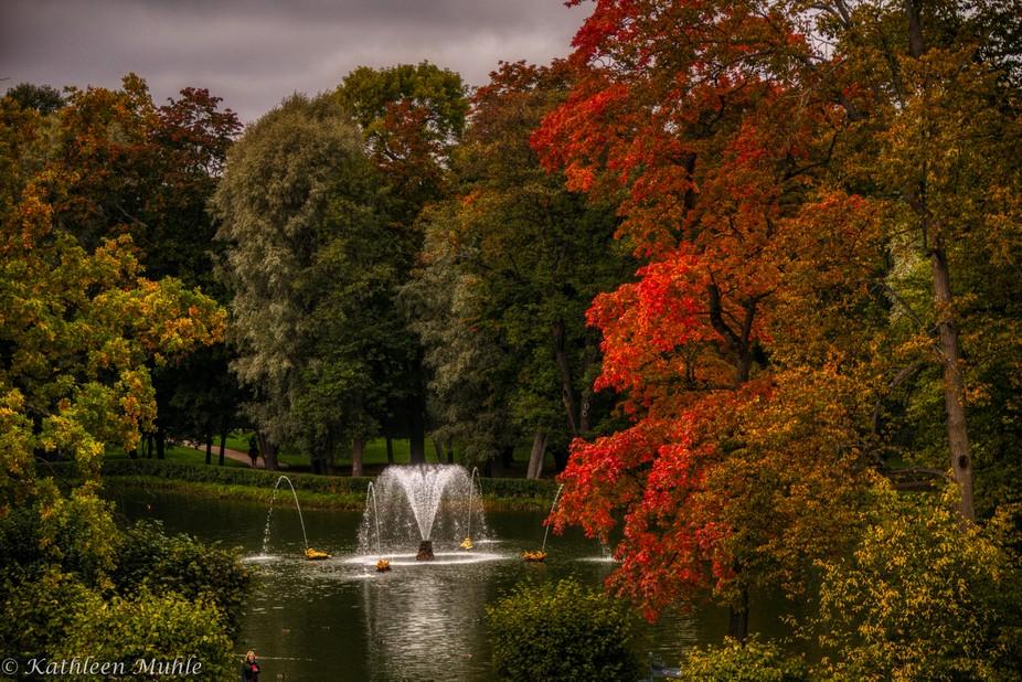 Peterhof Pond in Autumn