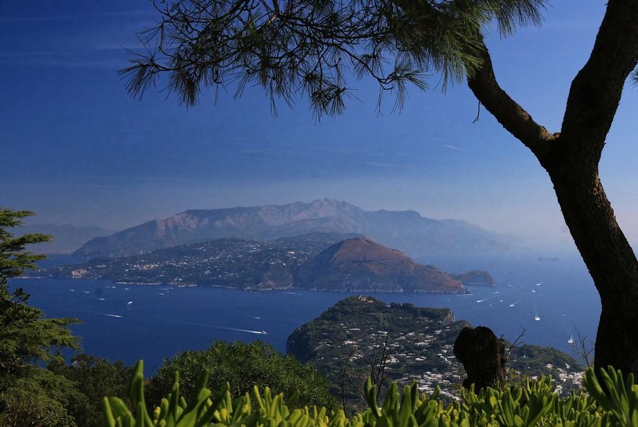 Taken from the highest point on Capri towards the Amalfi coast.