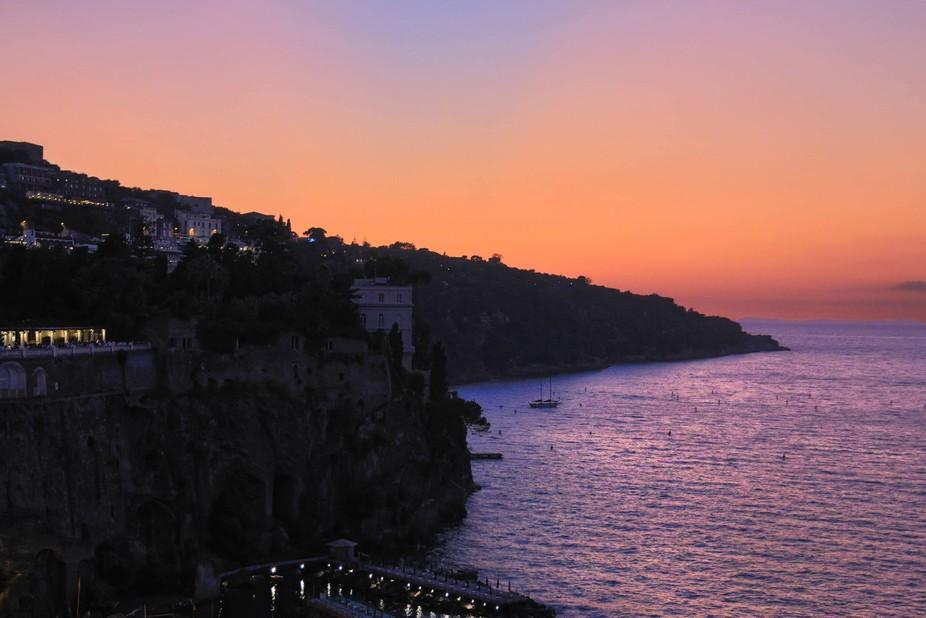 Sunset over Sorrento