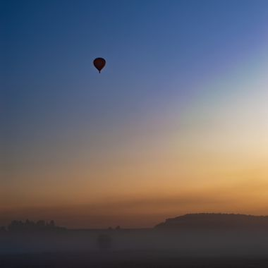 Ballon in the sky at dawn