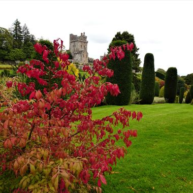Drummond castle showing signs of Autumn