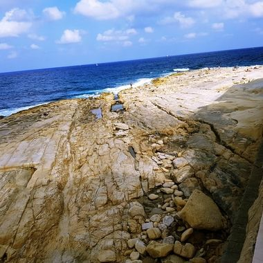 leading to the beach