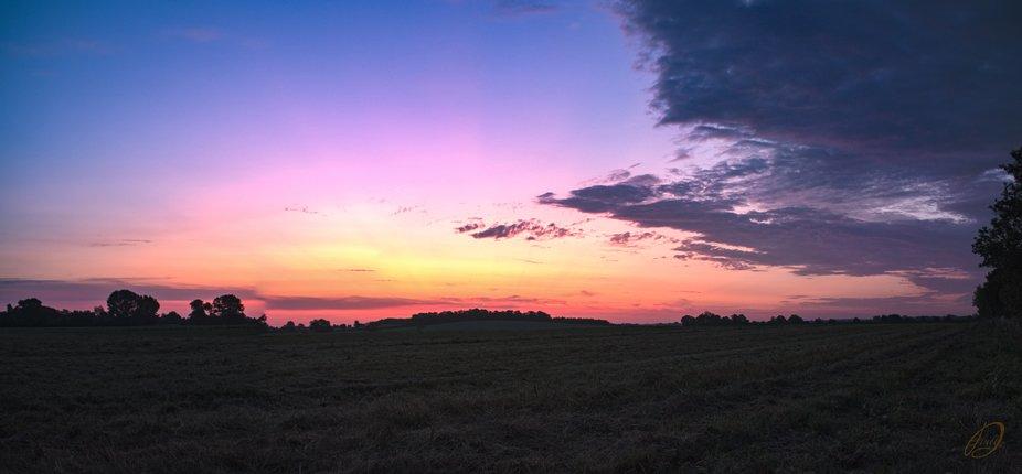 Sunrise over Cambridgeshire