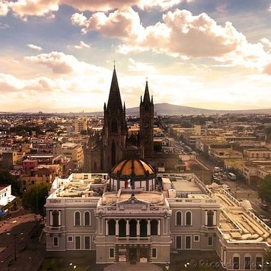 Sunset at downtown, Guadalajara, Jalisco, México
