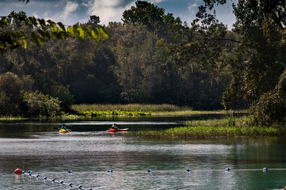 As I was shooting scenes of the Rainbow River, These two kayaker's came into the frame, ...