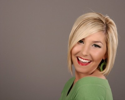 Blonde Smiling Earing
