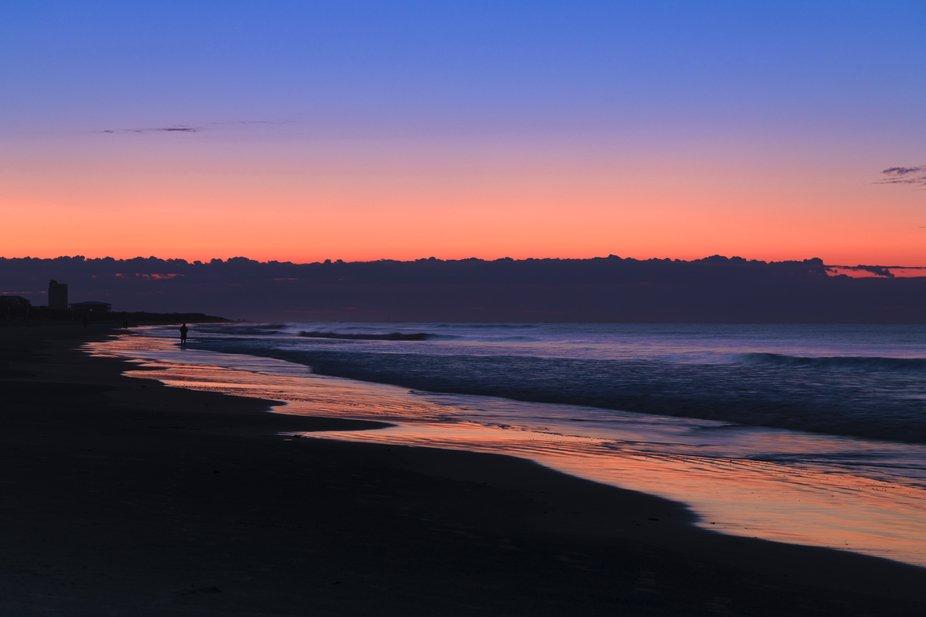 Sunrise on sunset beach