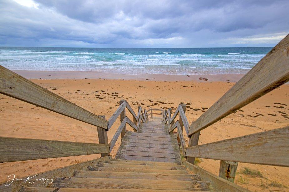 Along the beautiful coast near Kilcunda Victoria in Australia all steps lead to the Ocean.