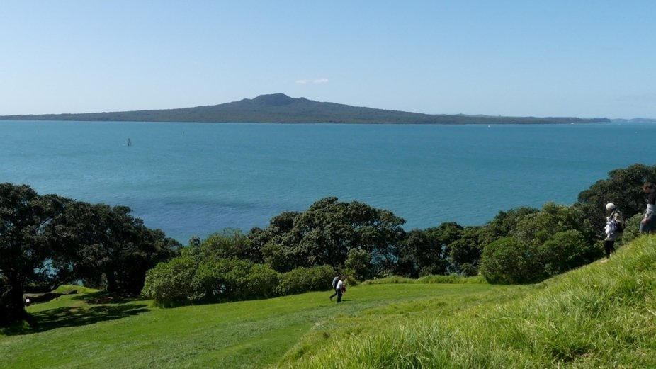 North Head looking across harbour to Rangitoto Island