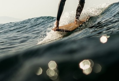 Longboarder Noseriding