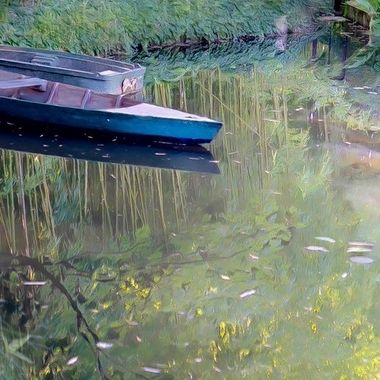 Painted boats at Giverny