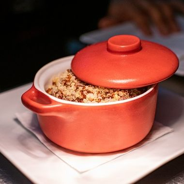 a small side dish of steamed Quinoa te be severed alongside a main meal