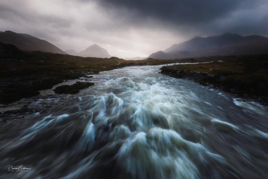 Sligachan Bridge Floe  HUGE amounts of rain and the rivers on the Isle of Skye are flowing full