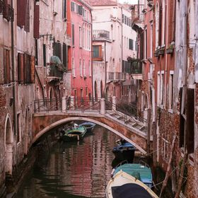 Iconic canals and gondolas in Venice
