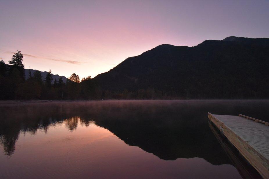 Dawn at Birkenhead Lake.