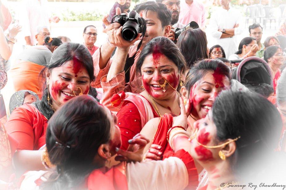 Bidding farewell to Goddess Durga as she proceeds to her husband's house make us gloomy ...