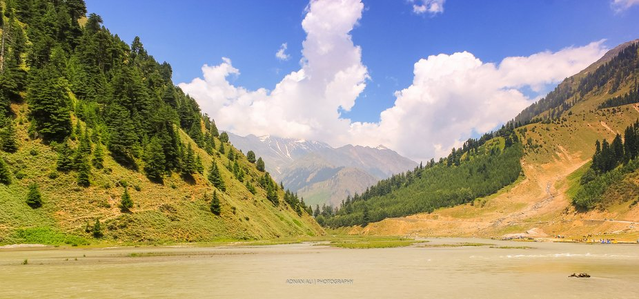 The best view of river Kunhar in Naran valley, Pakistan