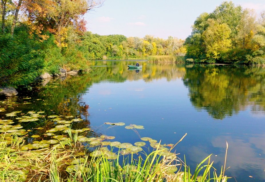 Psel river. Autumn. Ukraine.