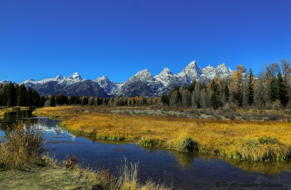Famous area in Wyoming's Grand Teton Nation Park