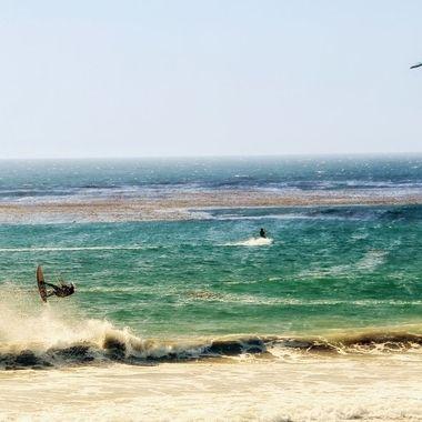 California kite surfing!