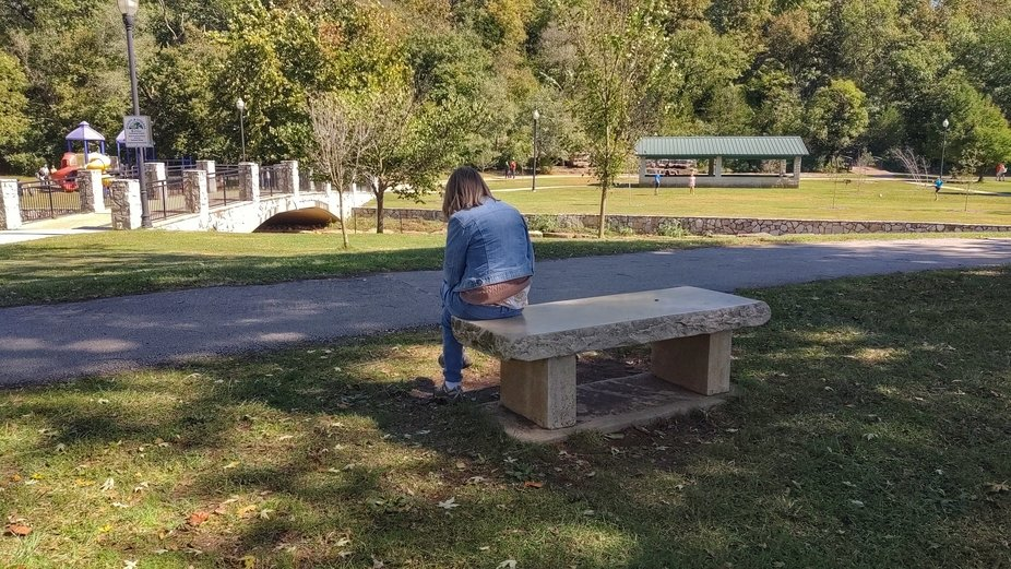 This picture was taken in Sequiota Park, Galloway Township, Springfield, Missouri USA, of my wife...
