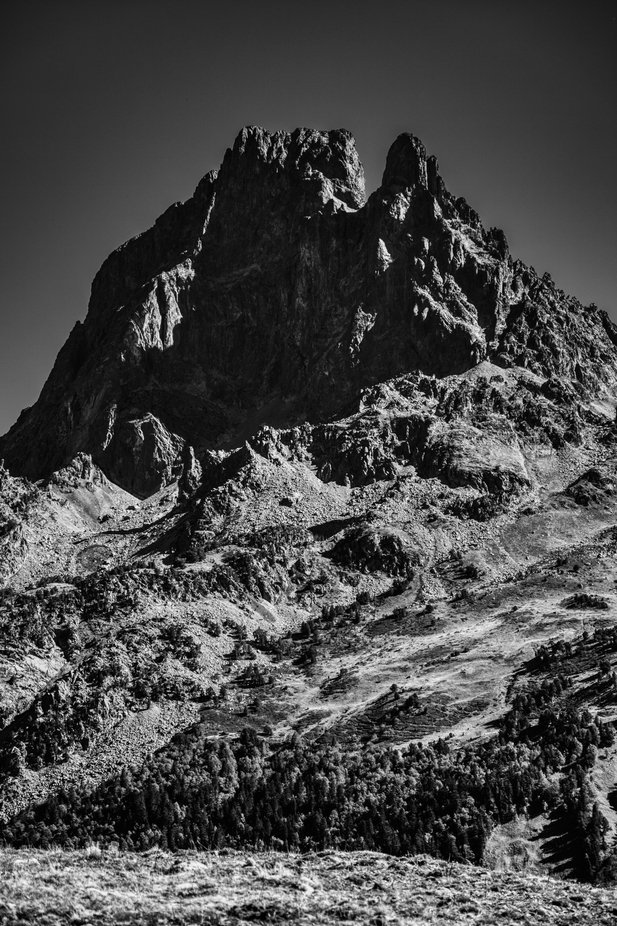 Picture taken in Pyrenees. Pic du Midi d'ossau. France.