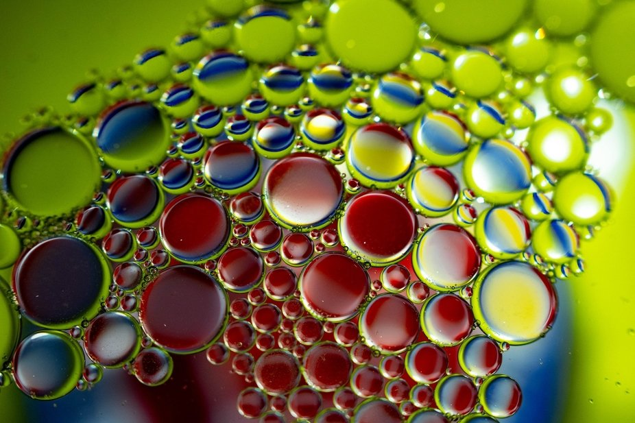 Oil & Water - Colors of the Rainbow