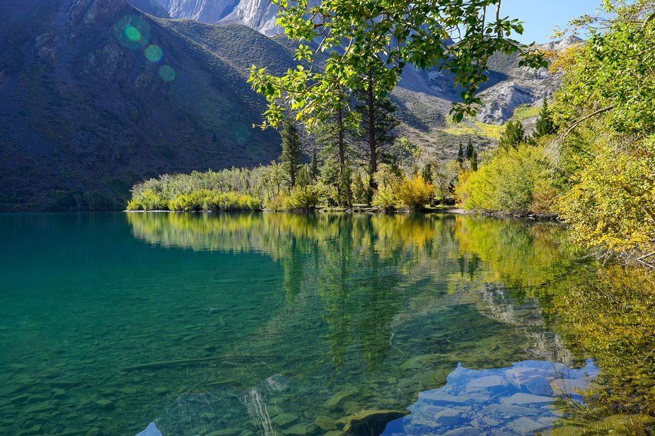 Convict Lake in the fall.