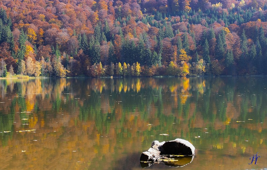 The only volcanic lake in Eastern Europe...