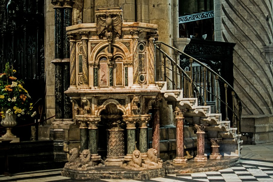 Carved Marble Pulpit Durham Cathedral