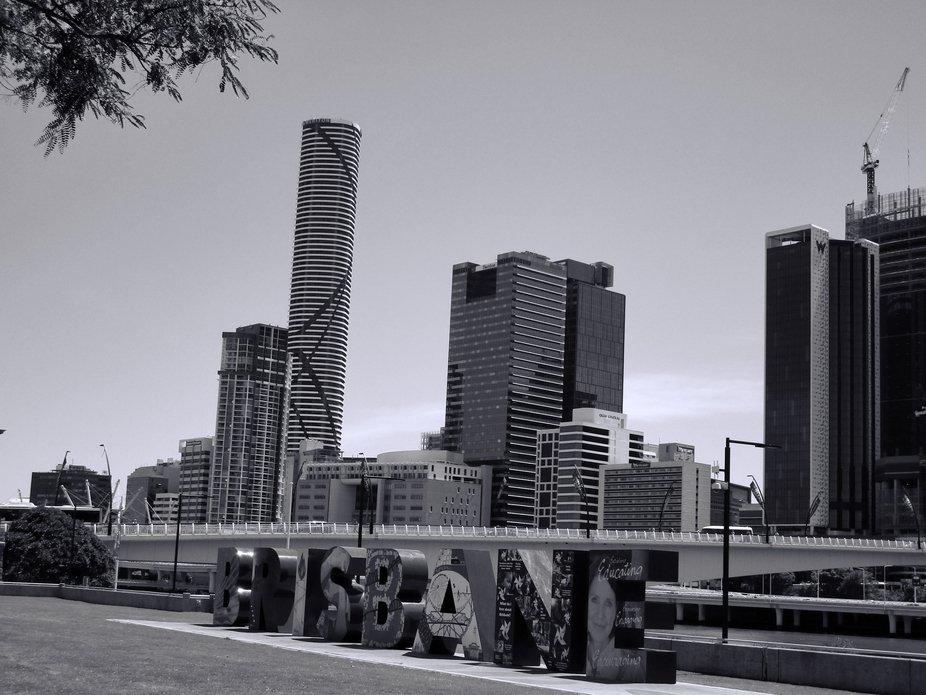 Brisbane City Skyline in B&W (2018)