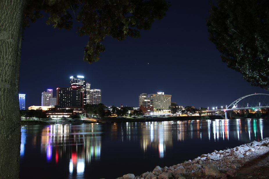 Little Rock at Night from North Little Rock