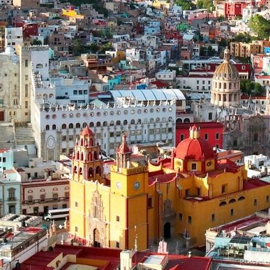 From above, Guanajuato, México